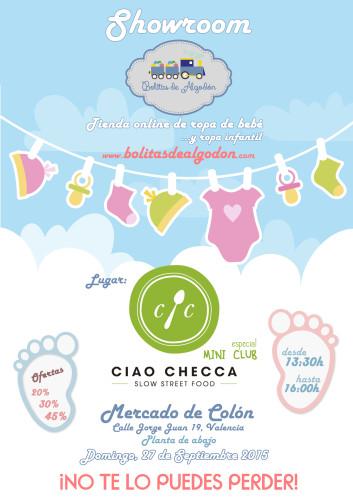 Showroom de ropa infantil en el Mercado de Colón